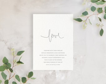 Wedding Invitation Sample - The Simply In Love Suite