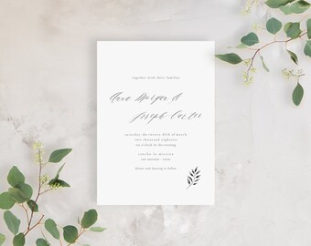 Wedding Invitation Sample - The Morgan Suite