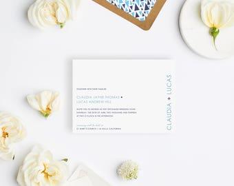 Wedding Invitation Sample - The Saybrook Suite