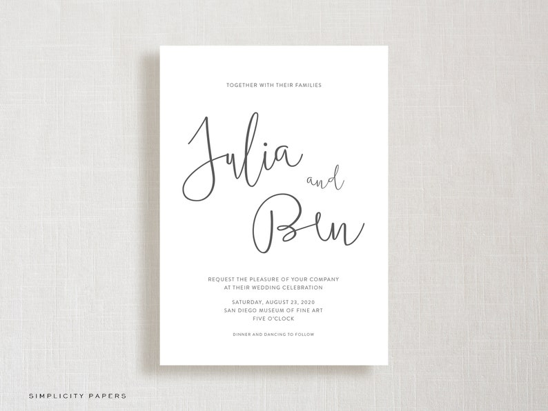 The Julia Suite Printable Wedding Collection