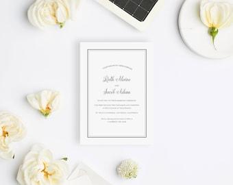 Wedding Invitation Sample - The Del Mar Suite