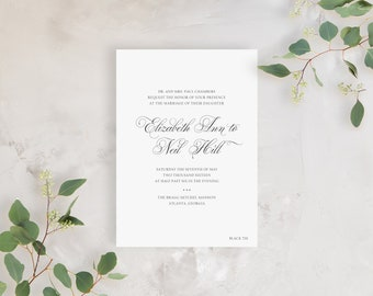 Wedding Invitation Sample - The Black Tie Suite