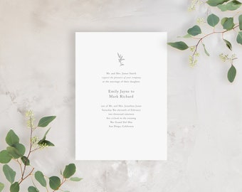 Wedding Invitation Sample - The Woodland Suite