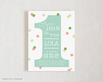 First Birthday Invitations // Number One // #1 Birthday Party