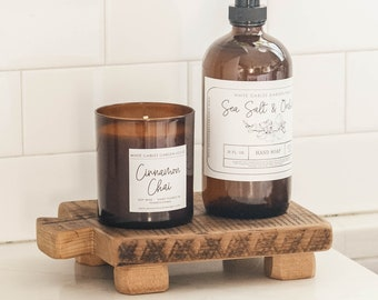 Soap Stand, Wood Riser, Kitchen Tray, Sink Decor, With A Finish