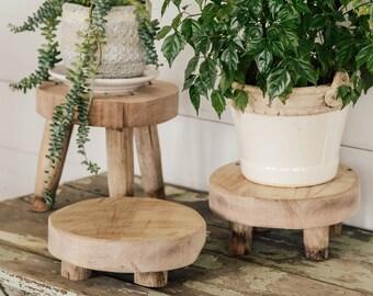 Wood Riser, Stool, Drink Dispenser Holder, Centerpiece Tray, Charcuterie Board, Trivet, Stool, Soap Stand, Candle Pedestal