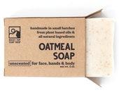 Oatmeal Soap, Sensitive Skin Soap, Unscented Soap, Natural Soap, Mens Soap, Exfoliating Soap, Vegan Soap, Rustic Soap
