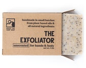 The Exfoliator - Scrub Soap, Exfoliating Soap Bar, All Natural Soap, Handmade Soap, Unscented Soap, Cold Process Soap, Vegan Soap, Mens Soap