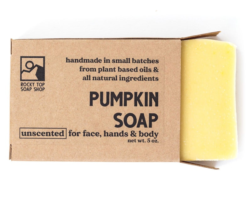 Pumpkin Soap  Dry Skin Soap All Natural Soap Homemade Soap image 0