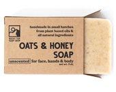 Oats and  Honey Soap, Oat and Honey Soap, Oatmeal Honey Soap, Oatmeal Soap, Cold Process Soap, Unscented Soap, Mens Soap, Exfoliating Soap