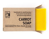 Carrot Soap - All Natural Soap, Handmade Soap, Cold Process Soap, Unscented Soap, Vegan Soap