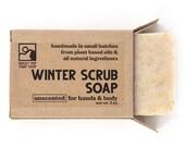 Winter Scrub Soap - Exfoliating Soap, Moisturizing Soap, Unscented Soap, Winter Soap, Dry Skin Soap, Vegan Soap, Natural Soap, Scrubby Soap