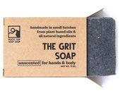 The Grit - Scrub Soap, Exfoliating Soap Bar, Hand Soap, Cold Process Soap, Vegan Soap, Mens Soap, Unscented Soap