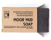 Moor Mud Soap - All Natural Soap, Homemade Soap, Unscented Soap, Cold Process Soap, Mud Soap, Vegan Soap, Mens Soap