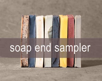 Soap End Samples, Unscented Soap, Gifts for Her, Soap Sampler, Artisan Soap, Cold Process Soap, Vegan Soap