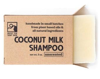 Vegan Shampoo Bar, Hair Soap Bar, Unscented Shampoo,  Handmade Shampoo Bar, Zero Waste Shampoo, Coconut Milk Shampoo, Homemade Shampoo