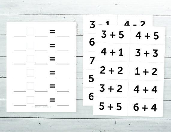 General Math Worksheet Activity Toddler Kids Preschool Etsy