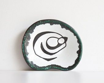 Vintage Abstract Modernist Ceramic Tray