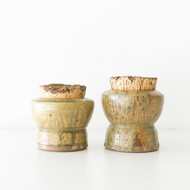 Vintage Studio Pottery Stoneware Canisters - Containers