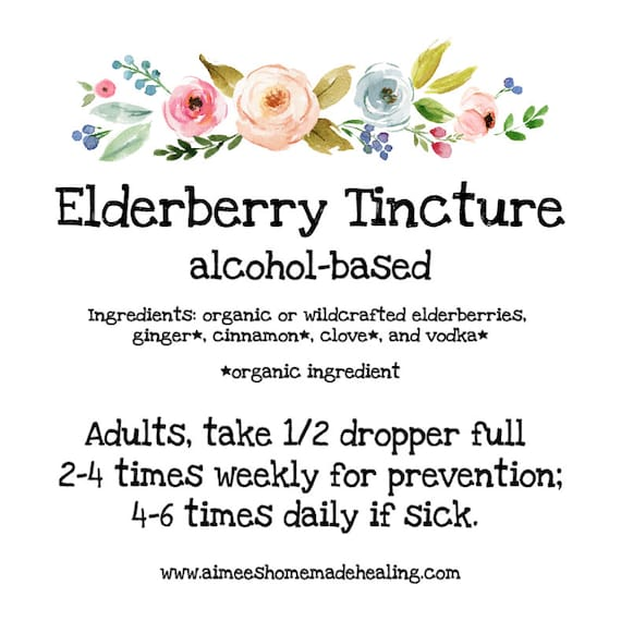 Organic Elderberry Tincture (alcohol based | herbal tincture)