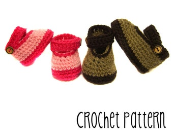 PATTERN Tutorial Crochet Mary Jane Shoe - Waldorf Doll Pattern