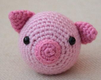 Pig Chinese Zodiac Amigurumi - CUSTOM ORDER - Montessori - toy - pink