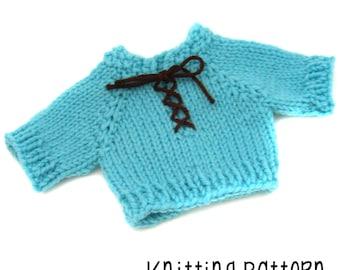 PATTERN Knitting Luke's V Sweater Pullover - Waldorf Doll Pattern