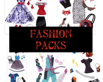 Fashion Packs for  Monster High Dolls for OOAK Doll Making/ One Pack/ Your Choice/ Operetta/ Frankie Stein/ Toralei Stripes/ Lagoona Blue
