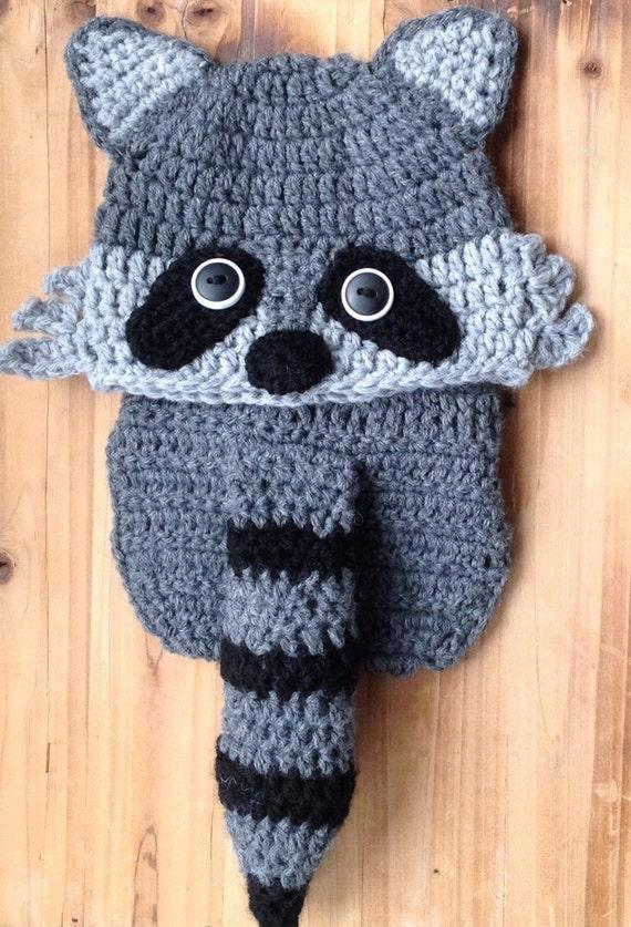 Häkeln Babymütze und Windel-Abdeckung Waschbär Hut | Etsy
