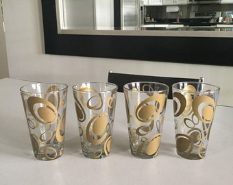 57087f6caa6 Cerve Glassware  Made in Italy  Le Gocce Barware Total of FOUR Retro  Glassware  By Gatormom13