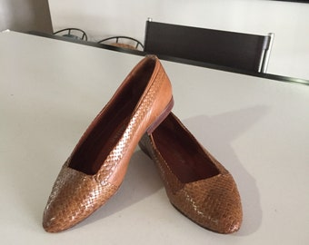 f8078590c7d Stephane Kelian   JUST REDUCED Brown Woven Leather Shoes Womens  Vintage Kelian  Shoes Paris  By Gatormom13
