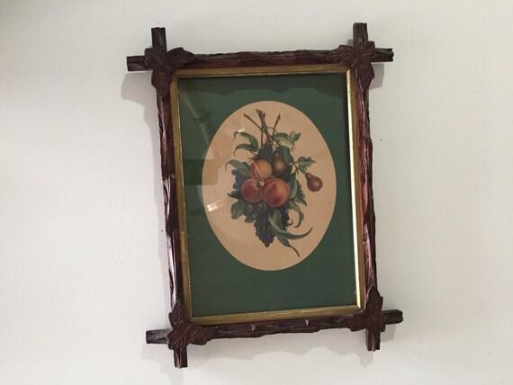 Marco tallado de artesanías/antiguo estilo Adirondack madera marco ...
