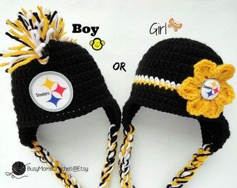 5f8e371d5 Handmade New York Giants inspired crochet baby HAT ONLY boy