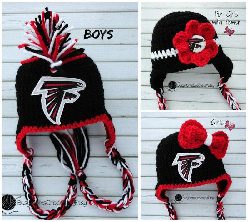 6403e7473 Handmade baby crochet Atlanta Falcons inspired HAT ONLY boy