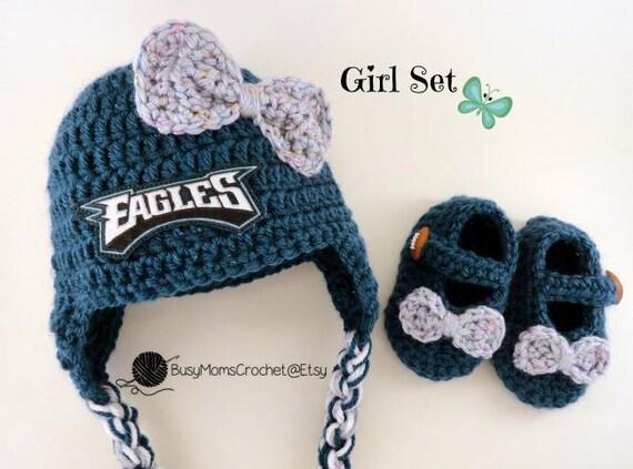 2996d6c794c Handmade Philadelphia Eagles colors inspired crochet hat and