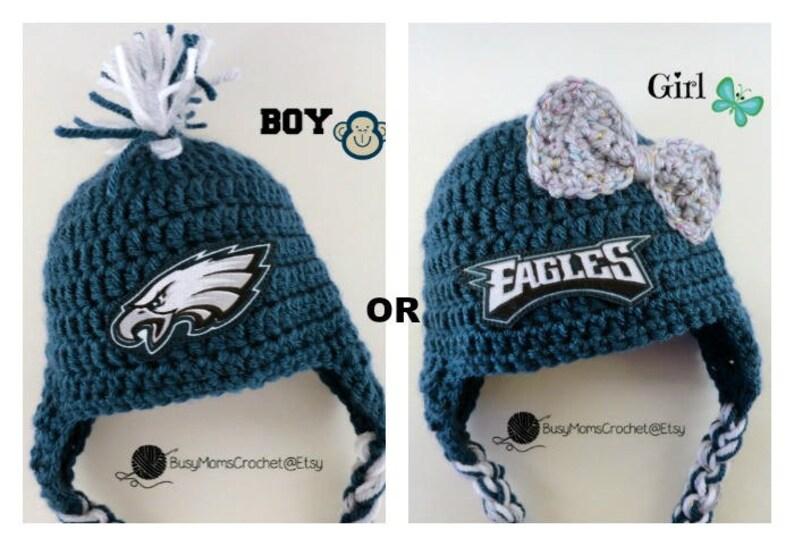 119cb283b Handmade Philadelphia Eagles inspired crochet baby HAT ONLY | Etsy