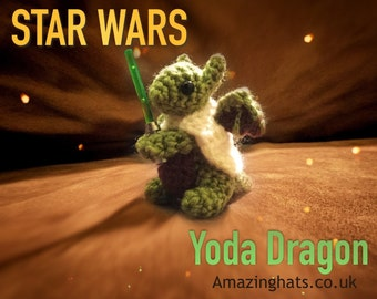 Tiny Jedi Dragon - Made to Order