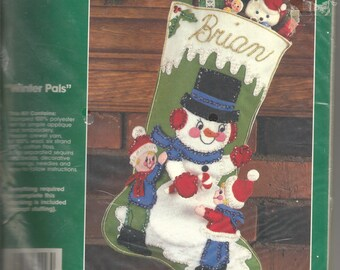 Vintage Snoopy Peanuts Woodstock Malina Christmas Stocking Kit Etsy