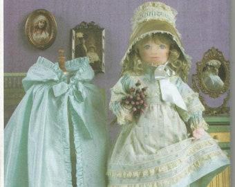 "Victorian Doll Clothes Pattern Linda Carr 18"" Doll Dress Pantaloons Cape Bonnet Boots Doll Clothes Sewing Pattern Vogue 7923 Uncut FF"