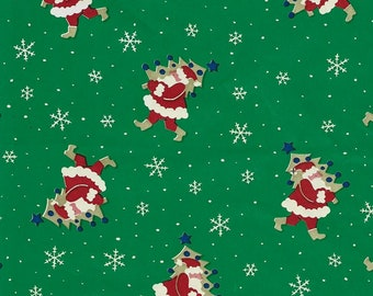 1950s-60s Vintage Christmas Gift Wrap Vintage Christmas Wrapping Paper Children Celebrating Christmas One Flat Sheet ca