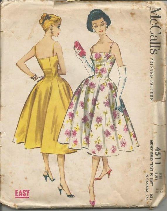 1950er Jahre Tanz Cocktail Regal Büste Prinzessin Nähte voller | Etsy