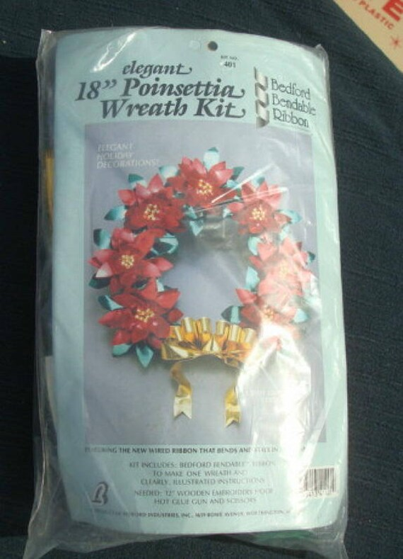 Wreath Kit DIY Christmas Wired Ribbon Christmas Wreath | Etsy