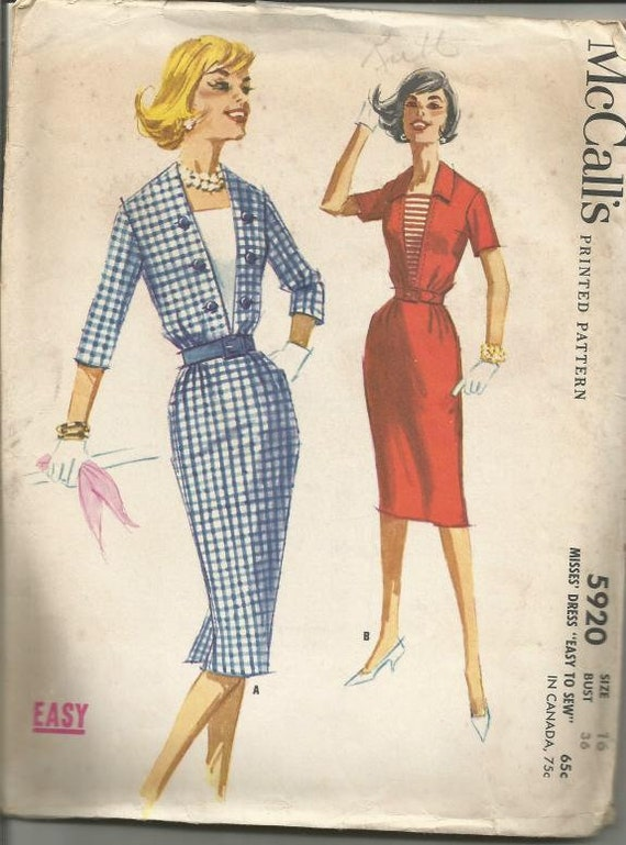 8053 UNCUT McCalls Vintage Sewing Pattern Button up Blouse Shirt Variations EASY