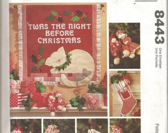 Christmas Crafts Stockings Christmas Ornaments Christmas Decor DIY Christmas McCall's 8443