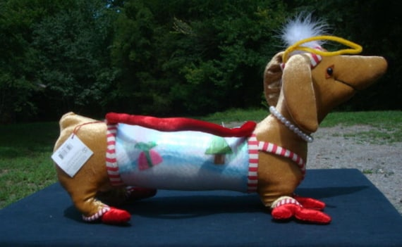Christmas DACHSHUND Weiner Dog Purse Handbag NOS w