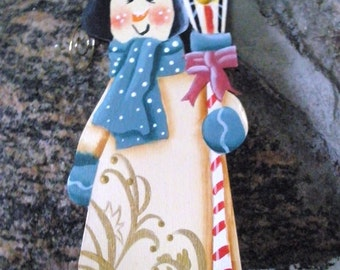 Snowman and Lamp Post Ornament