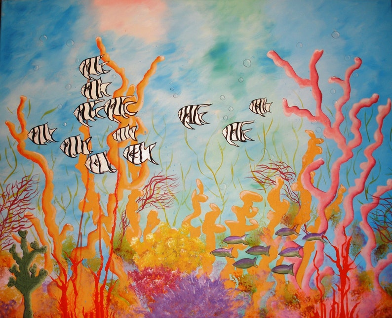 Coral Reef and Angel Fish Print image 0
