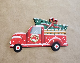 Old Red Truck Ornament, Free Shipping