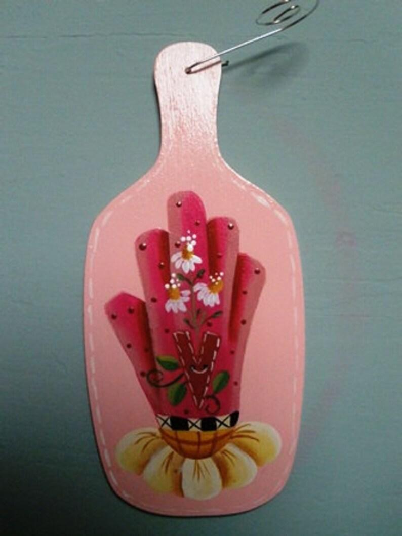 Spring Gloves Gardening Ornament  For the Gardener  For Her image 0