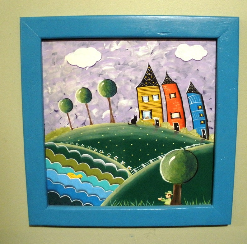 Whimsical Little Jack Horner  Painting OOAK Original Acrylic image 0